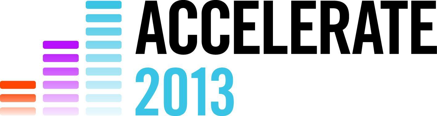 ACCELERATE 2013 logo