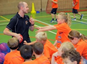 Kyle Taylor coaching at A-Star Sports