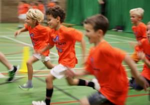 A-star sports kids running
